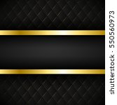 black stripe with gold border... | Shutterstock .eps vector #550560973