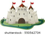 vector cartoon castle for the...