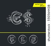 dollar  euro  pound and yen... | Shutterstock .eps vector #550564438