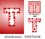 alphabet letter t with red... | Shutterstock .eps vector #550570258