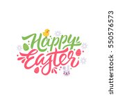 happy easter lettering...   Shutterstock .eps vector #550576573