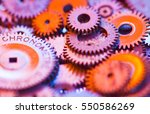 a group gears from watches... | Shutterstock . vector #550586269