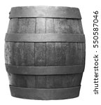 wood barrel  cask  isolated on... | Shutterstock . vector #550587046