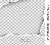realistic vector torn paper... | Shutterstock .eps vector #550587670