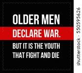 vector quote. older men declare ... | Shutterstock .eps vector #550595626