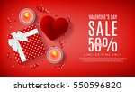 valentine's day sale web... | Shutterstock .eps vector #550596820