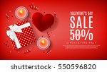 valentine's day sale web... | Shutterstock .eps vector #550596820