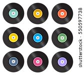 set of retro vinyl gramophone...   Shutterstock .eps vector #550597738