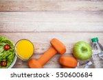 fitness healthy diet background | Shutterstock . vector #550600684