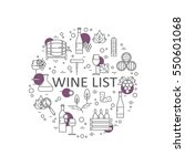 logotype of wine and wine... | Shutterstock .eps vector #550601068