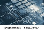 a circuit board with the... | Shutterstock . vector #550605964