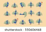 set vector stock illustration... | Shutterstock .eps vector #550606468