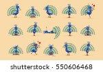 set vector stock illustration... | Shutterstock .eps vector #550606468