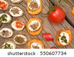 appetizers cheese and... | Shutterstock . vector #550607734