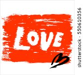 vector hand drawn valentine's... | Shutterstock .eps vector #550610356