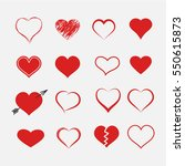 heart collection icons. | Shutterstock .eps vector #550615873
