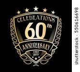 60th shield anniversary logo.... | Shutterstock .eps vector #550616698