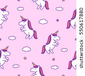 seamless pattern with doodle... | Shutterstock .eps vector #550617880
