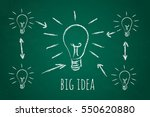 drawing small light bulb and... | Shutterstock .eps vector #550620880