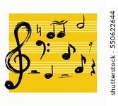 music notes. vector... | Shutterstock .eps vector #550622644
