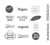 vector hand drawn logos.... | Shutterstock .eps vector #550626214