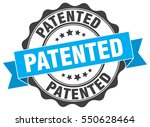 patented. stamp. sticker. seal. ... | Shutterstock .eps vector #550628464