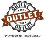 outlet. stamp. sticker. seal.... | Shutterstock .eps vector #550628560