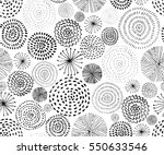 Stock vector vector seamless pattern with ink circle textures abstract seamless background with fireworks 550633546