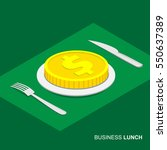 business lunch concept... | Shutterstock .eps vector #550637389