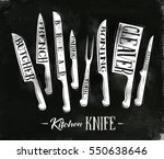 poster kitchen meat cutting... | Shutterstock . vector #550638646
