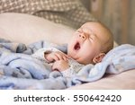 cute baby yawning before sleep | Shutterstock . vector #550642420