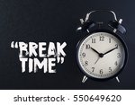 concept alarm clock with break... | Shutterstock . vector #550649620