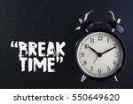 concept alarm clock with break... | Shutterstock . vector #550649620