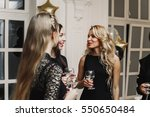 crazy party time of  beautiful... | Shutterstock . vector #550650484