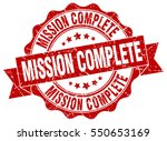 mission complete. stamp.... | Shutterstock .eps vector #550653169