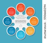vector infographic template  8... | Shutterstock .eps vector #550660294
