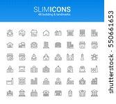 minimalistic slim line building ... | Shutterstock .eps vector #550661653