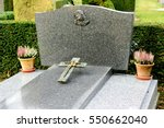 Gray Marble Tombstones In...