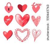vector festive collection of... | Shutterstock .eps vector #550665763
