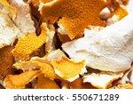 Dried Orange Peels Background...