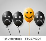 one happy face in crowd of sad. ... | Shutterstock .eps vector #550674304