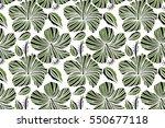 tropical flowers  hibiscus... | Shutterstock . vector #550677118