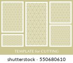 decorative panels set for laser ... | Shutterstock .eps vector #550680610