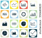 set of graphs  diagrams and... | Shutterstock .eps vector #550680820