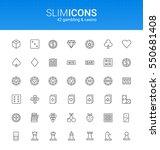 minimalistic slim line gambling ... | Shutterstock .eps vector #550681408