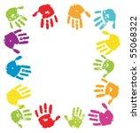 colour palms background.frame... | Shutterstock .eps vector #55068322