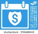 financial shield calendar day... | Shutterstock .eps vector #550688443