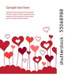 background with growing hearts | Shutterstock .eps vector #55068988