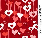 seamless heart background   Shutterstock .eps vector #55068994