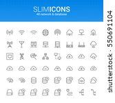 minimalistic slim line network  ... | Shutterstock .eps vector #550691104
